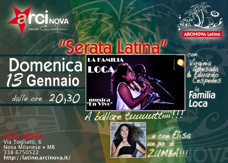 Serata Latina Gennaio 2019 familia loca sm
