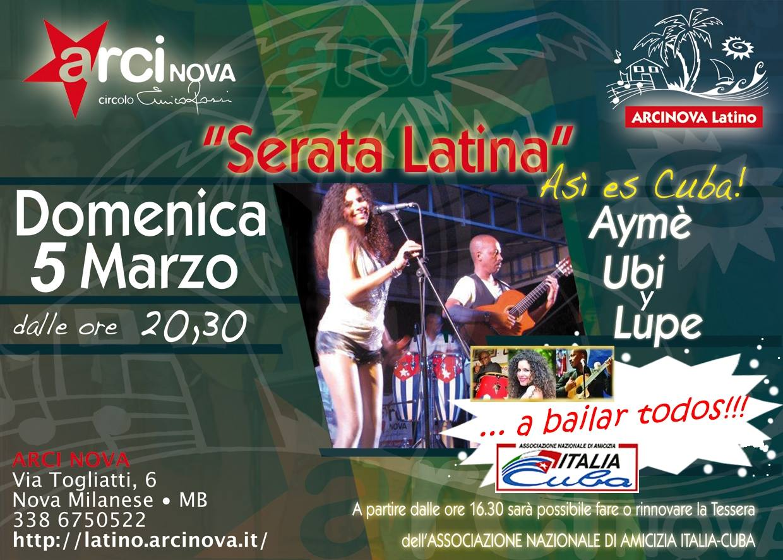 Serata Latina Marzo 2017 sm